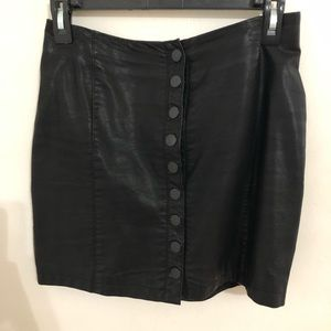 Free People leather mini skirt